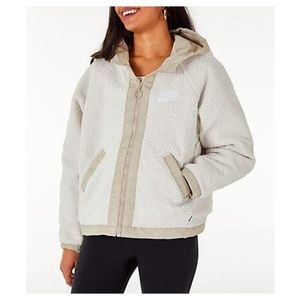 NWT Womens NIKE Sherpa Reversible Jacket